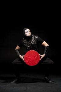 Actor in black costume